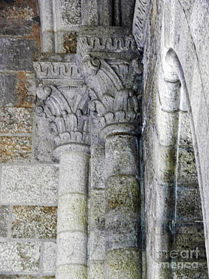 Photograph - Cathedral Pillar Carvings In Archway by Val Miller