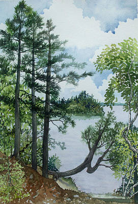 Painting - Cathedral Point - Trout Lake by Helen Klebesadel