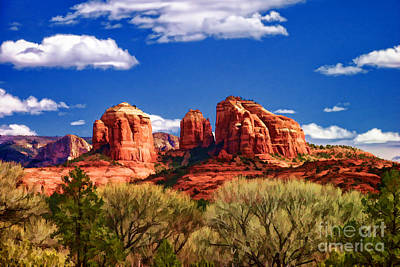 Digital Art - Cathedral Rock by David Doucot