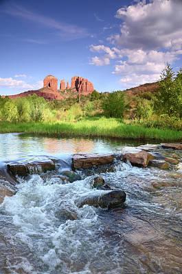 Oak Creek Canyon Wall Art - Photograph - Cathedral Rock At Dusk by Sbossert
