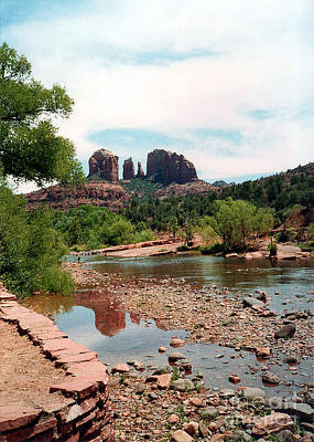 Photograph - Cathedral Rock At Oak Creek 1993 by Connie Fox