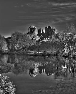 Cathedral Rock Bw Art Print