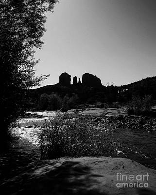 Cathedral Rock Bw Art Print by Mel Steinhauer