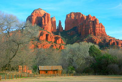 Cathedral Rock Cabin Art Print