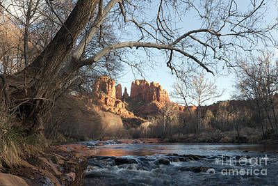 Cathedral Rock From Red Rock Crossing On Oak Creek Arizona Art Print by Patrick McGill