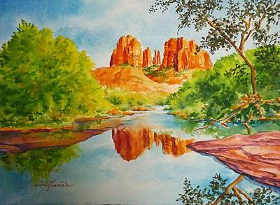 Cathedral Rock  Art Print by Gracia  Molloy