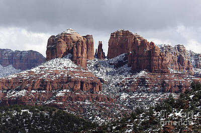 Cathedral Rock In Winter Arizona Art Print by Patrick McGill