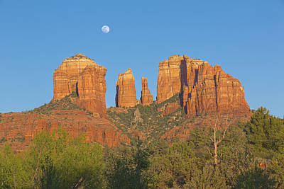 Cathedral Rock Moonrise - Horizontal Art Print by Brian Knott - Forget Me Knott Photography