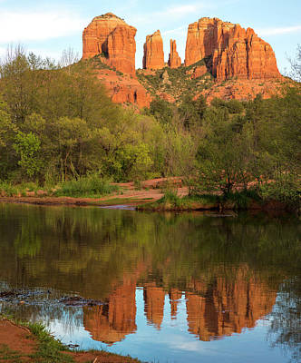 Oak Creek Canyon Wall Art - Photograph - Cathedral Rock Oak Creek Reflection by Picturelake