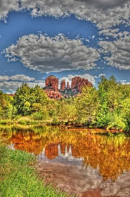 Photograph - Cathedral Rock Painted by David Armstrong