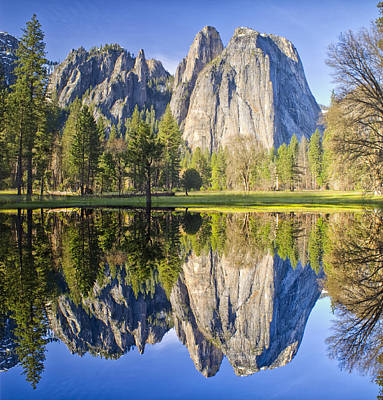 Photograph - Cathedral Rock Panorama Reflection by Jim Dollar