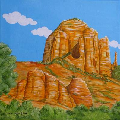 Cathedral Rock Sedona Az Left Art Print by Carol Sabo
