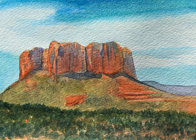 Cathedral Rock Painting - Cathedral Rock Sedona by James Zeger