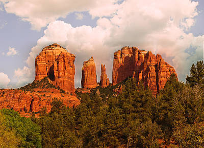 Photograph - Cathedral Rock Sunset by Bob and Nadine Johnston