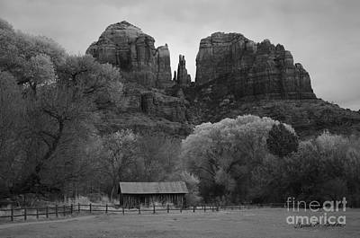 Cathedral Rock Photograph - Cathedral Rock Vii Bw by David Gordon