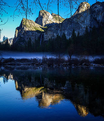 Cathedral Rock Photograph - Cathedral Rocks And Bridalveil Falls by Scott McGuire