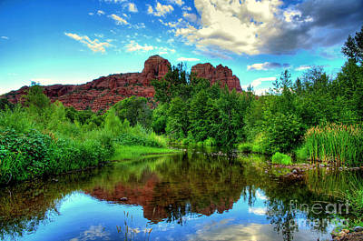 Cathedral Rocks At Red Rock Crossing Art Print by K D Graves