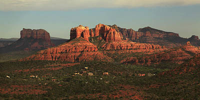 Art Print featuring the photograph Cathedral Rocks In Sedona by Alan Vance Ley
