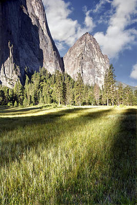 Cathedral Rocks In Yosemite Valley Art Print by Chris Frost