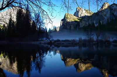 Cathedral Rock Photograph - Cathedral Rocks Yosemite National Park by Scott McGuire