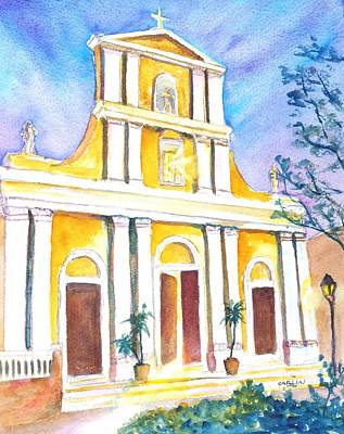 Painting - Cathedral San Juan At Dusk by Carlin Blahnik