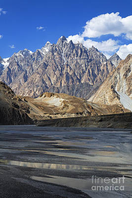Cathedral Spires Mountain Peaks Passu Art Print by Robert Preston