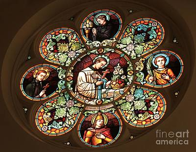 Photograph - Cathedral Stained Glass by Adam Jewell