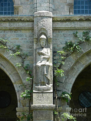 Photograph - Cathedral Statue by Val Miller