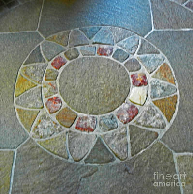 Photograph - Cathedral Stone Floor Sun by Val Miller