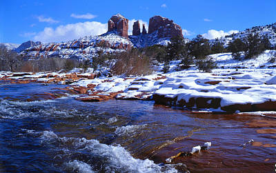 Cathedral Rock Winter Art Print