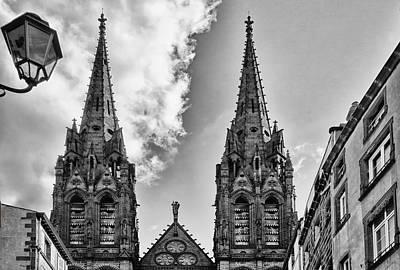 Clermont Photograph - Cathedrale Notre-dame-de-l'assomption De Clermont-ferrand by Georgia Fowler