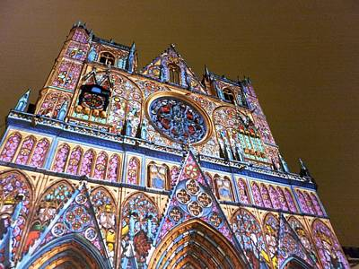 Cathedrale Saint-jean Illuminee Art Print