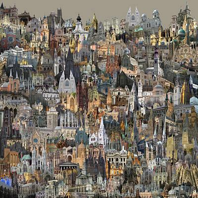 Digital Art - Cathedri by Zac AlleyWalker Lowing