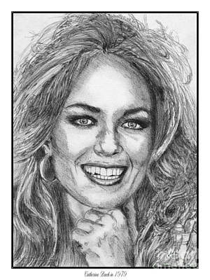 Catherine White Drawing - Catherine Bach In 1979 by J McCombie