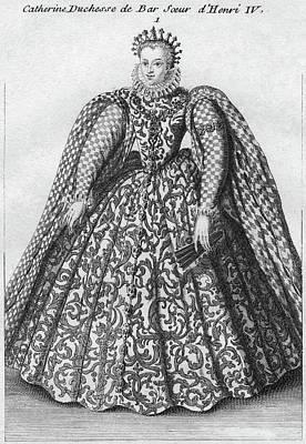 Duchess Painting - Catherine De Bourbon (1559-1604) by Granger