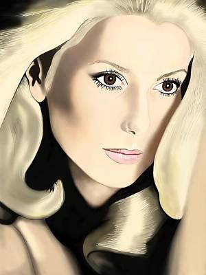 Painting - Catherine Deneuve by Andrew Harrison