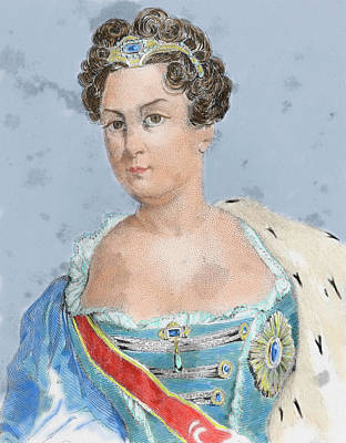 Catherine I (martha Skavronskaoa Art Print
