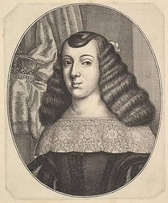 Czech Republic Drawing - Catherine Of Braganza by Wenceslaus Hollar