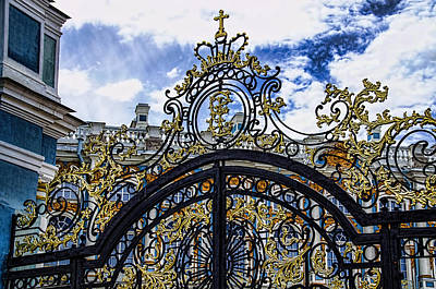 Catherine Palace Entry Gate - St Petersburg Russia Print by Jon Berghoff