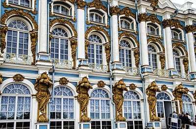 Catherine Palace Facade - St Petersburg  Russia Print by Jon Berghoff