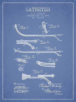 Catheter Patent From 1902 - Light Blue Art Print