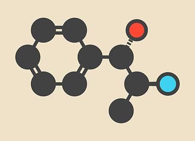 Cathine Khat Stimulant Molecule Art Print by Molekuul