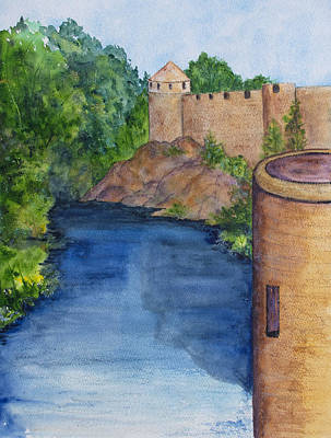 Painting - Cathir Castle On The River Suir by Patricia Beebe