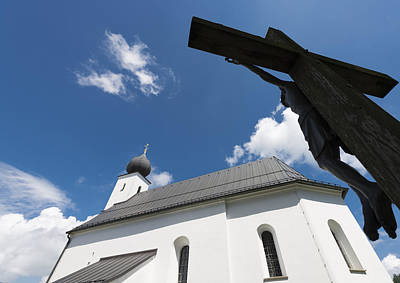 Photograph - Catholic Church And Crucifix by Matthias Hauser