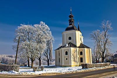 Photograph - Catholic Church In Town Of Krizevci by Brch Photography