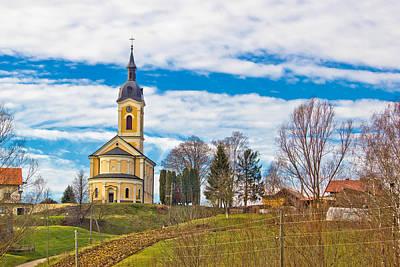 Photograph - Catholic Church On Idyllic Village Hill by Brch Photography