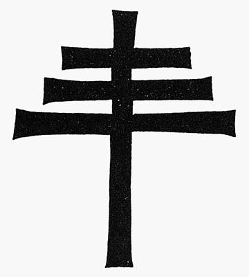 Papal Painting - Catholicism Papal Cross by Granger