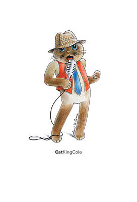 Nats Drawing - Catkingcole by Louise McClain Reeves