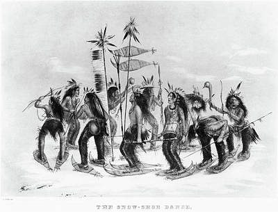 Staff Painting - Catlin Snow-shoe Dance by Granger