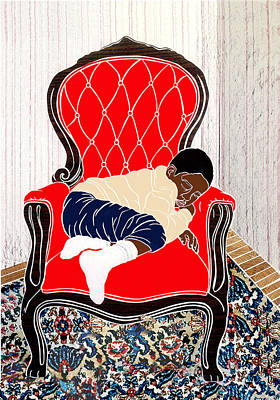 Mixed Media - Catnap by Martha Rucker